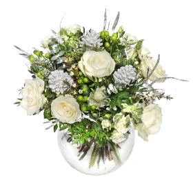 White and Silver Christmas Bouquet